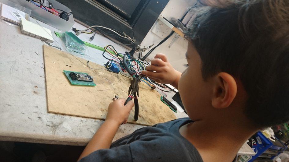 My apprentice helping me